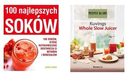 U nas otrzymujesz 2 książki do wyciskarki Kuvings