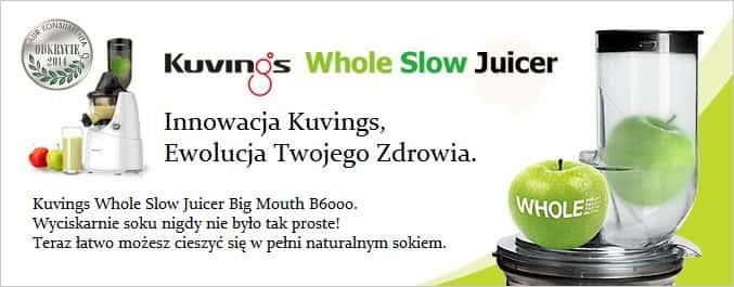 Wyciskarka Kuvings Whole Slow Juicer Big Mouth B6000 : Wyciskarka KUvINGS B6000 WyciskarkiSokow.pl