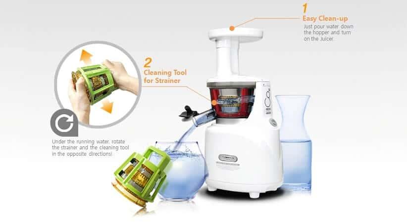 Łatwe czyszczenie wyciskarki soków Kuvings.