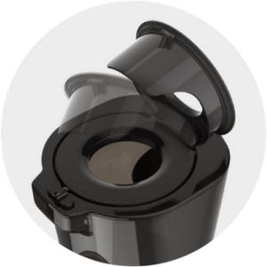Jeszcze większy wlot z unikalną bezpieczną klapką z otworem w Kuvings D9900