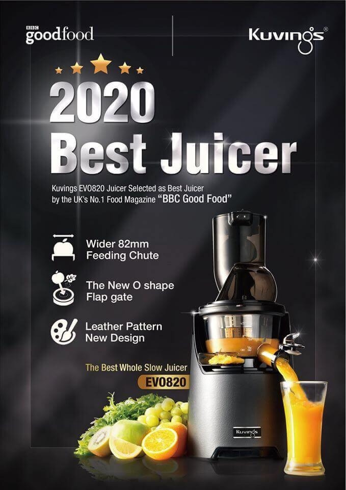 Wolnoobrotowa Kuvings EVO820 najlepszą wyciskarką 2020 roku według brytyjskiego magazynu BBC Good Food