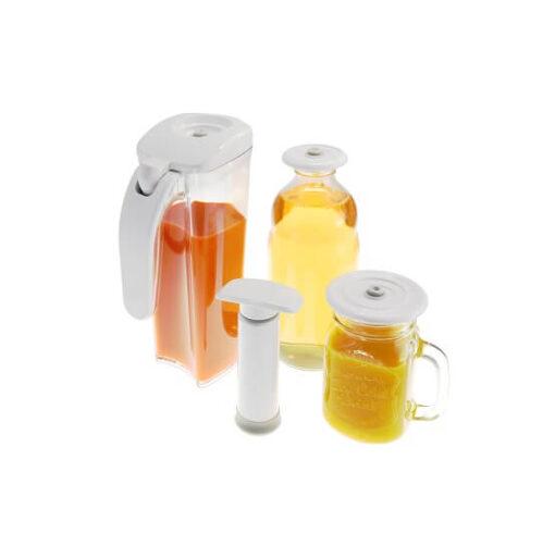 Zestaw próżniowy Vita-My do przechowywania napojów.